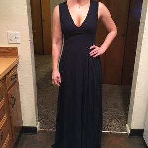 Navy blue BHLDN bridesmaid dress size small.
